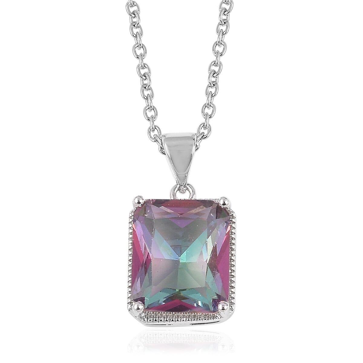 12-Color-Options-Cubic-Zirconia-Bracelet-Chain-Pendant-Necklace-Set-Adjustable thumbnail 41