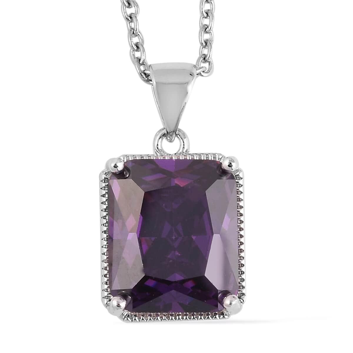 12-Color-Options-Cubic-Zirconia-Bracelet-Chain-Pendant-Necklace-Set-Adjustable thumbnail 75