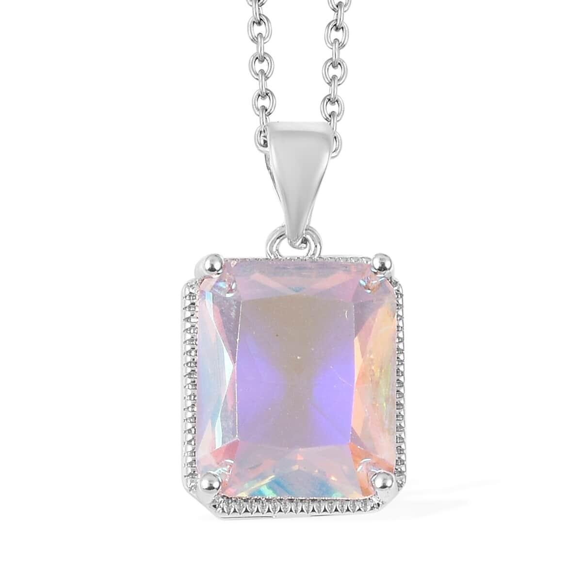 12-Color-Options-Cubic-Zirconia-Bracelet-Chain-Pendant-Necklace-Set-Adjustable thumbnail 50