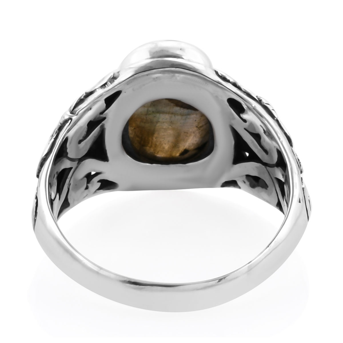 Bali Legacy Malagasy Labradorite Ring in Sterling Silver (Size 11.0) 7.13 ctw