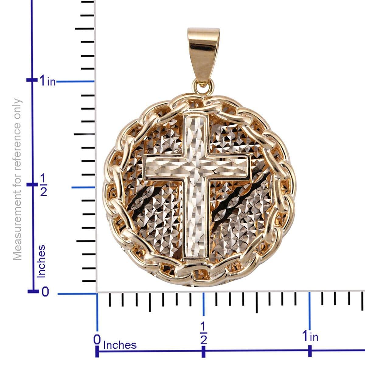AURUMVITA 3D Cross Pendant in 10K Yellow Gold (3.81 g)