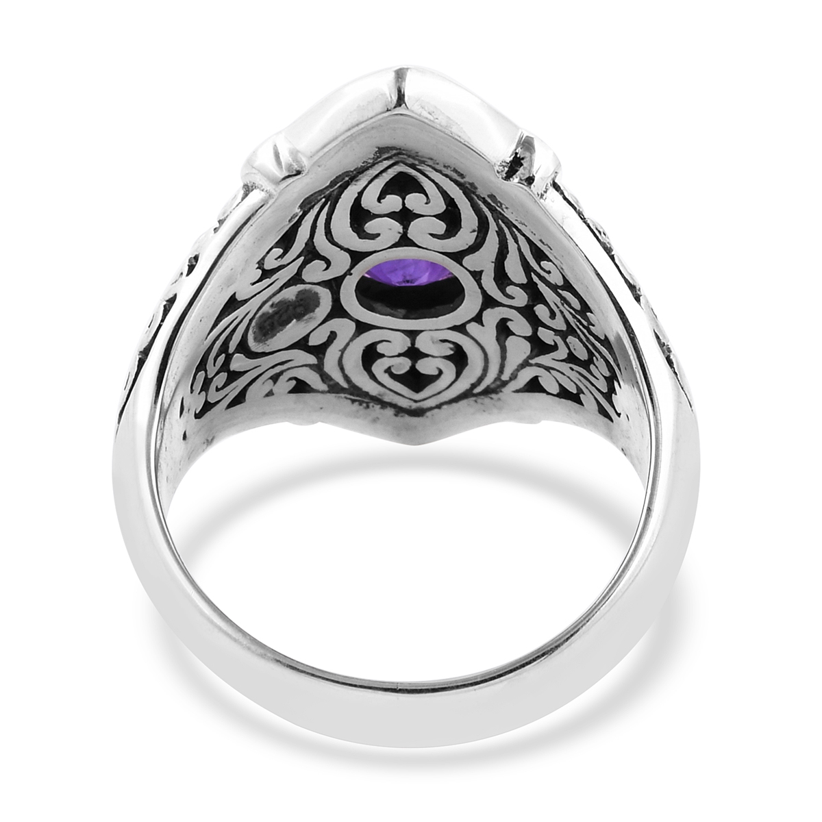 Bali Legacy Amethyst Ring in Sterling Silver (Size 8.0) 1.83 ctw