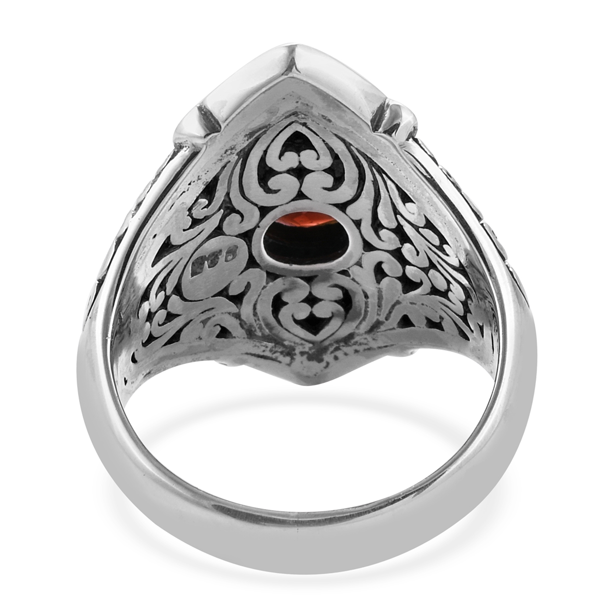 BALI LEGACY Mozambique Garnet Ring in Sterling Silver (Size 10.0) (Avg. 10.01 g) 2.16 ctw