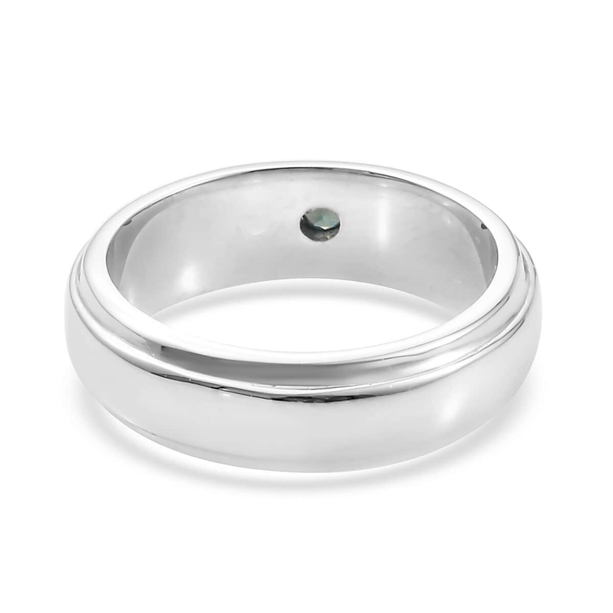 Narsipatnam Alexandrite Men's Band Ring in Platinum Over Sterling Silver (Size 12.0) (9.10 g) 0.05 ctw