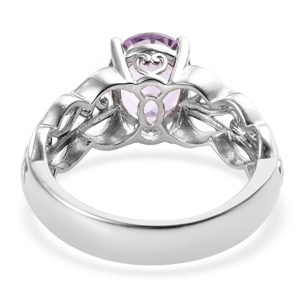 KARIS Rose De France Amethyst Ring in Platinum Bond Brass (Size 11.0) 3.15 ctw