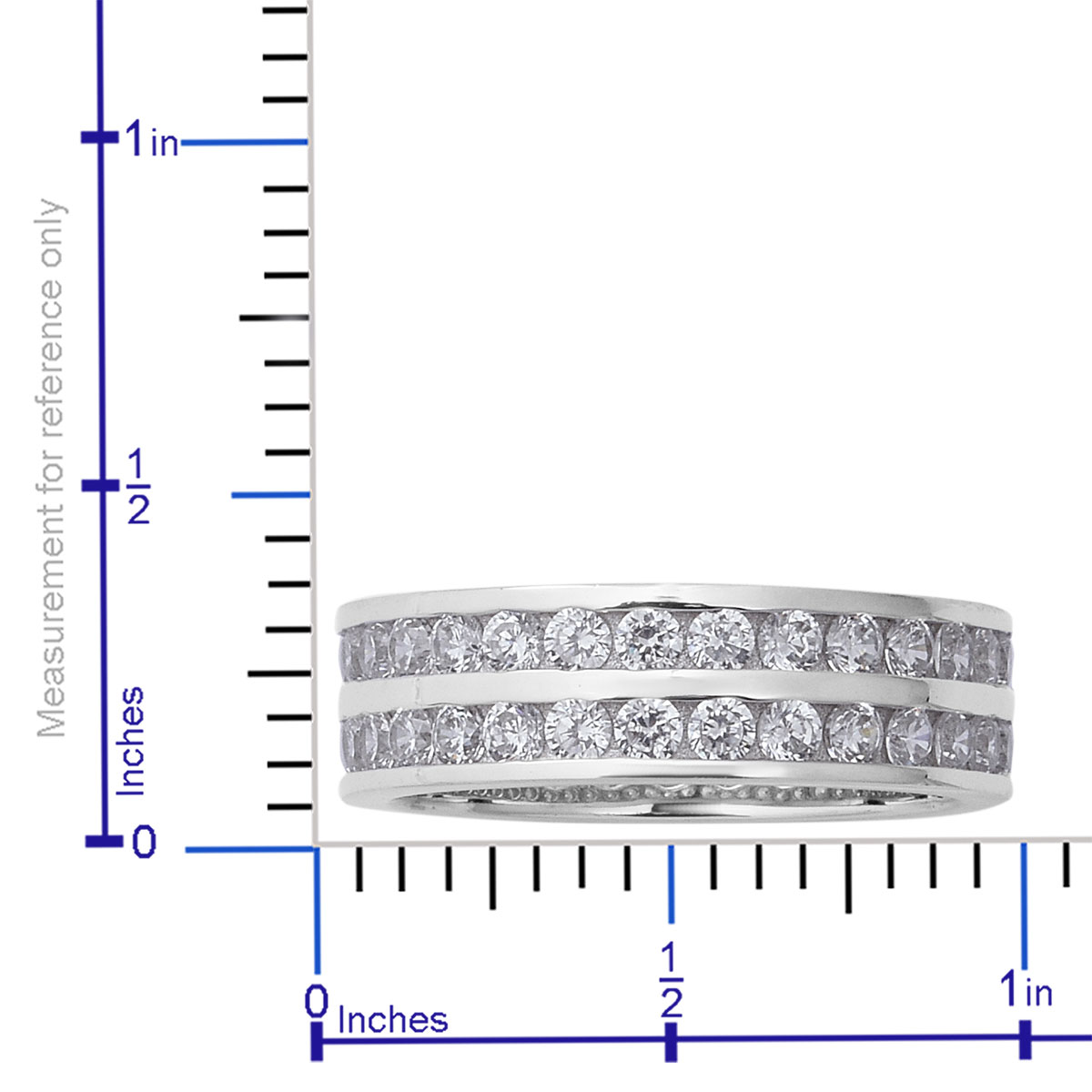 LUSTRO STELLA CZ Eternity Band Ring in Sterling Silver (Size 10.0) 4.48 ctw
