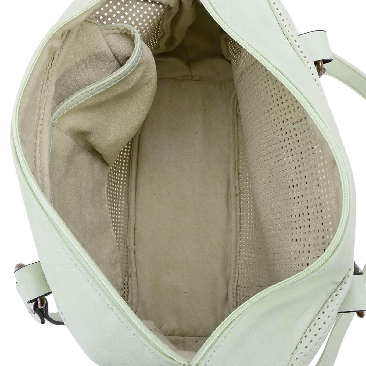 J Francis - Mint Green Faux Leather Handbag (10x5x14 in)
