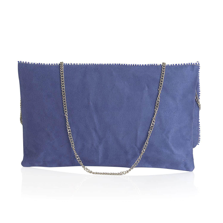 Santa Fe Style Blue Seed Bead Clutch/Crossbody Bag (11x7.5 in)