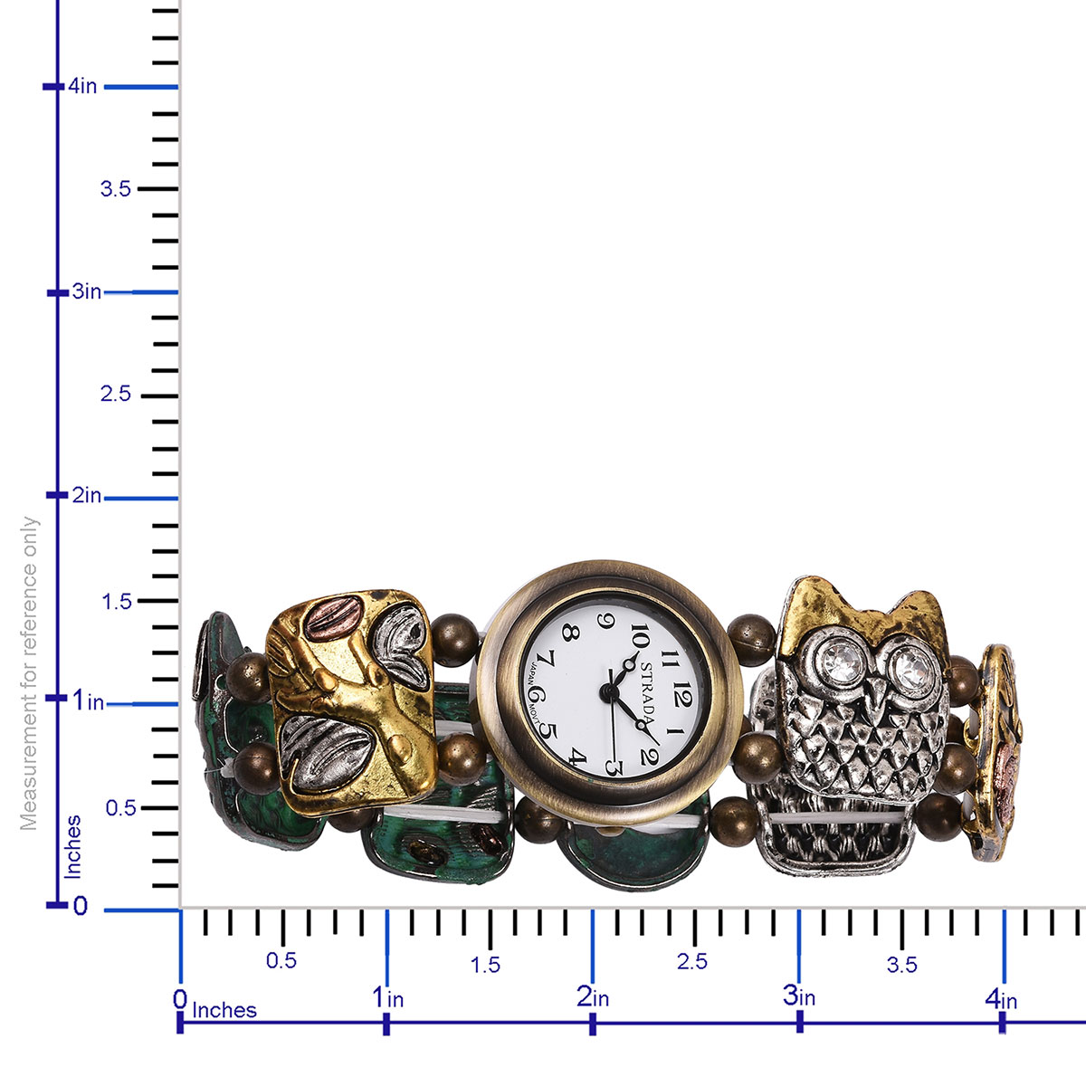 808c270ed ... STRADA Austrian Crystal Japanese Movement Water Resistant Enameled  Bracelet Watch (Stretchable) in Multitone and