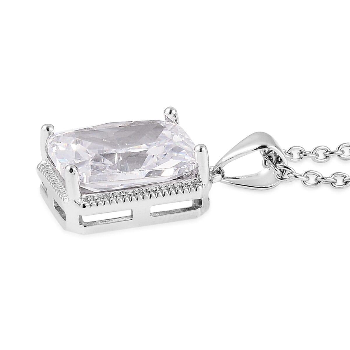 12-Color-Options-Cubic-Zirconia-Bracelet-Chain-Pendant-Necklace-Set-Adjustable thumbnail 102
