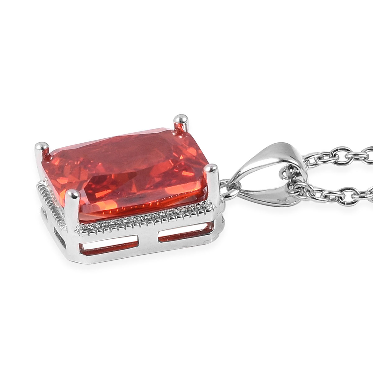 12-Color-Options-Cubic-Zirconia-Bracelet-Chain-Pendant-Necklace-Set-Adjustable thumbnail 58