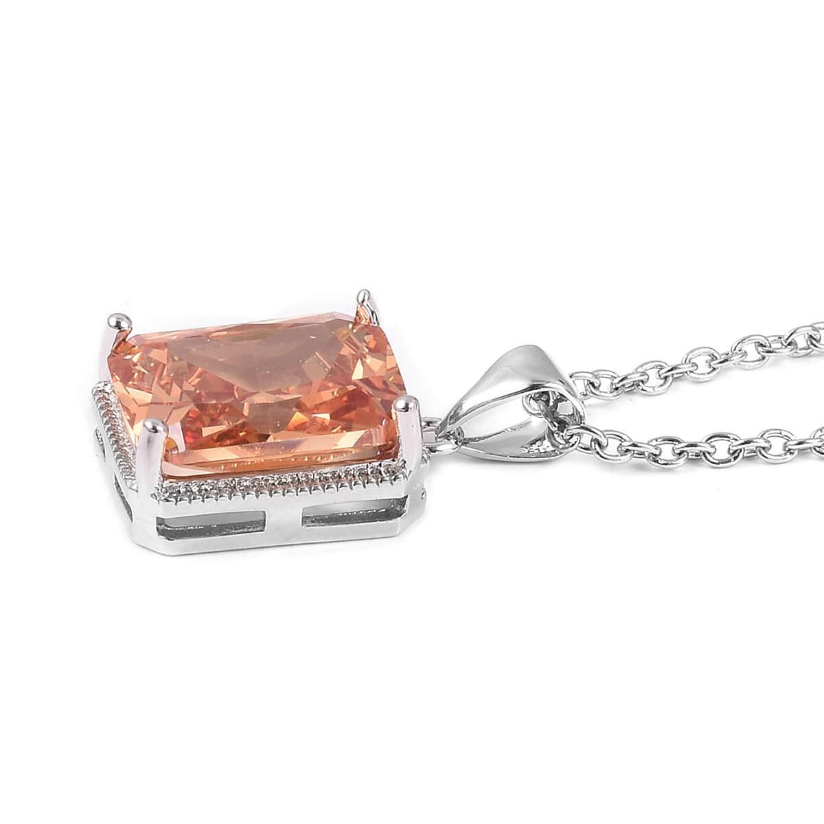 12-Color-Options-Cubic-Zirconia-Bracelet-Chain-Pendant-Necklace-Set-Adjustable thumbnail 24