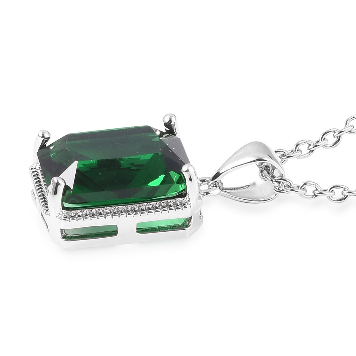 12-Color-Options-Cubic-Zirconia-Bracelet-Chain-Pendant-Necklace-Set-Adjustable thumbnail 33