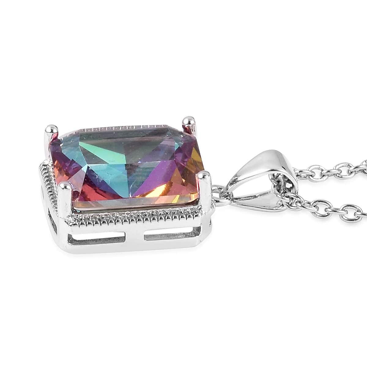 12-Color-Options-Cubic-Zirconia-Bracelet-Chain-Pendant-Necklace-Set-Adjustable thumbnail 42