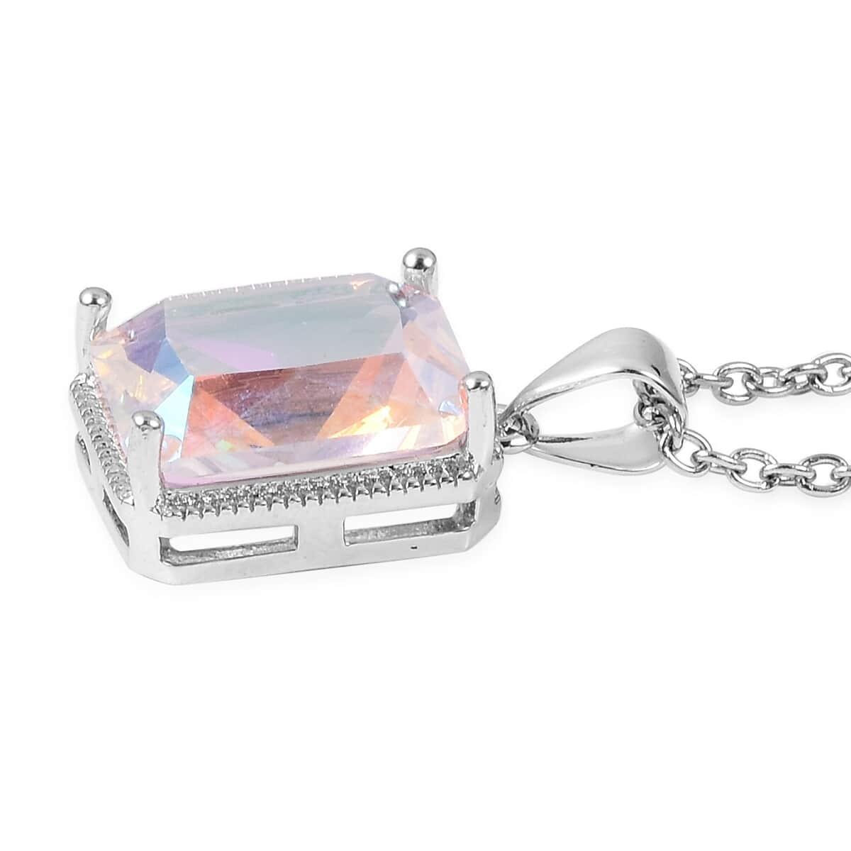 12-Color-Options-Cubic-Zirconia-Bracelet-Chain-Pendant-Necklace-Set-Adjustable thumbnail 51