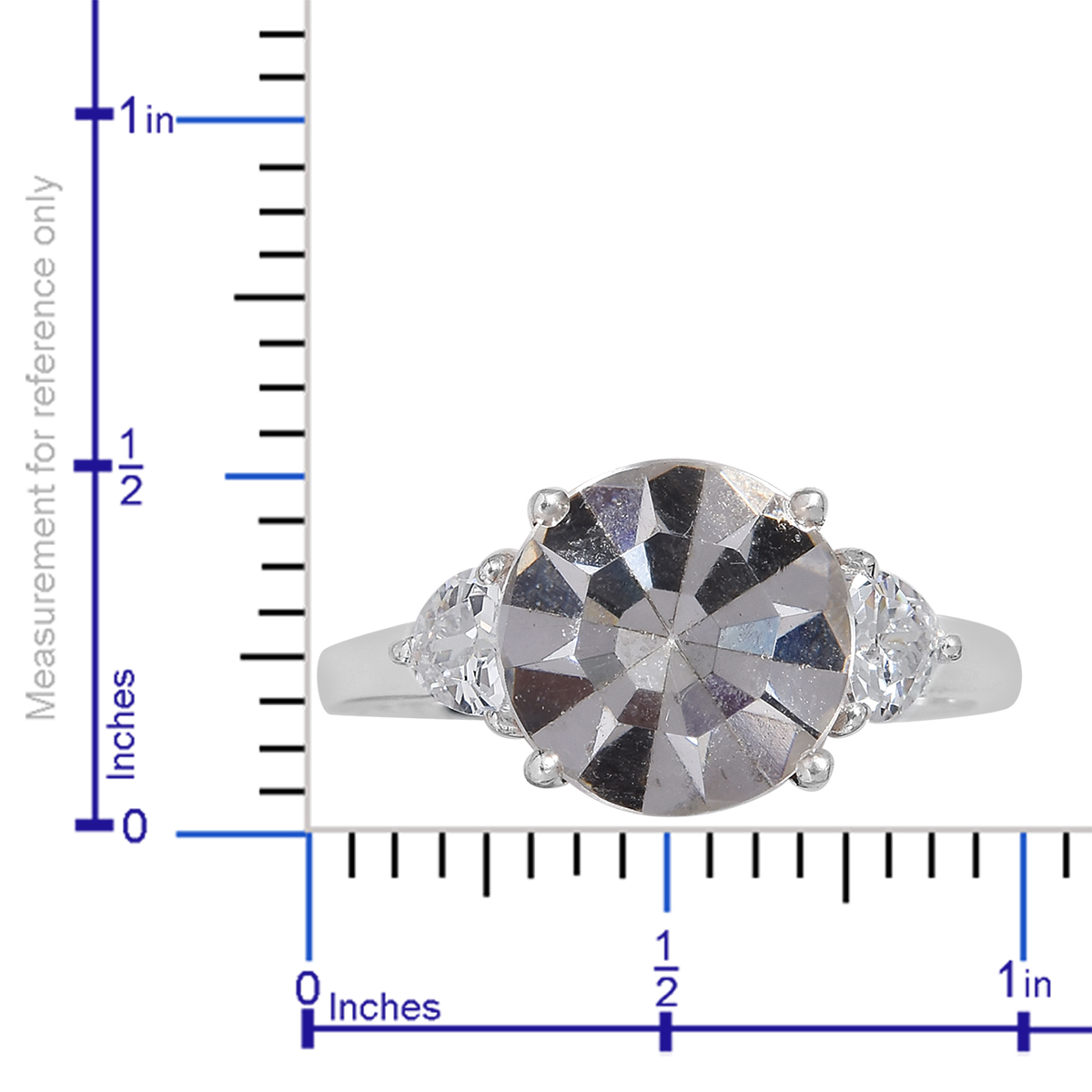 White CZ Ring in Sterling Silver (Size 11.0) Made with SWAROVSKI White Crystal 0.57 ctw