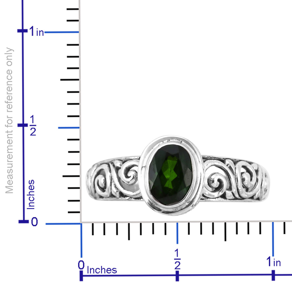 Bali Legacy Russian Diopside Ring in Sterling Silver (Size 11.0) 1.24 ctw