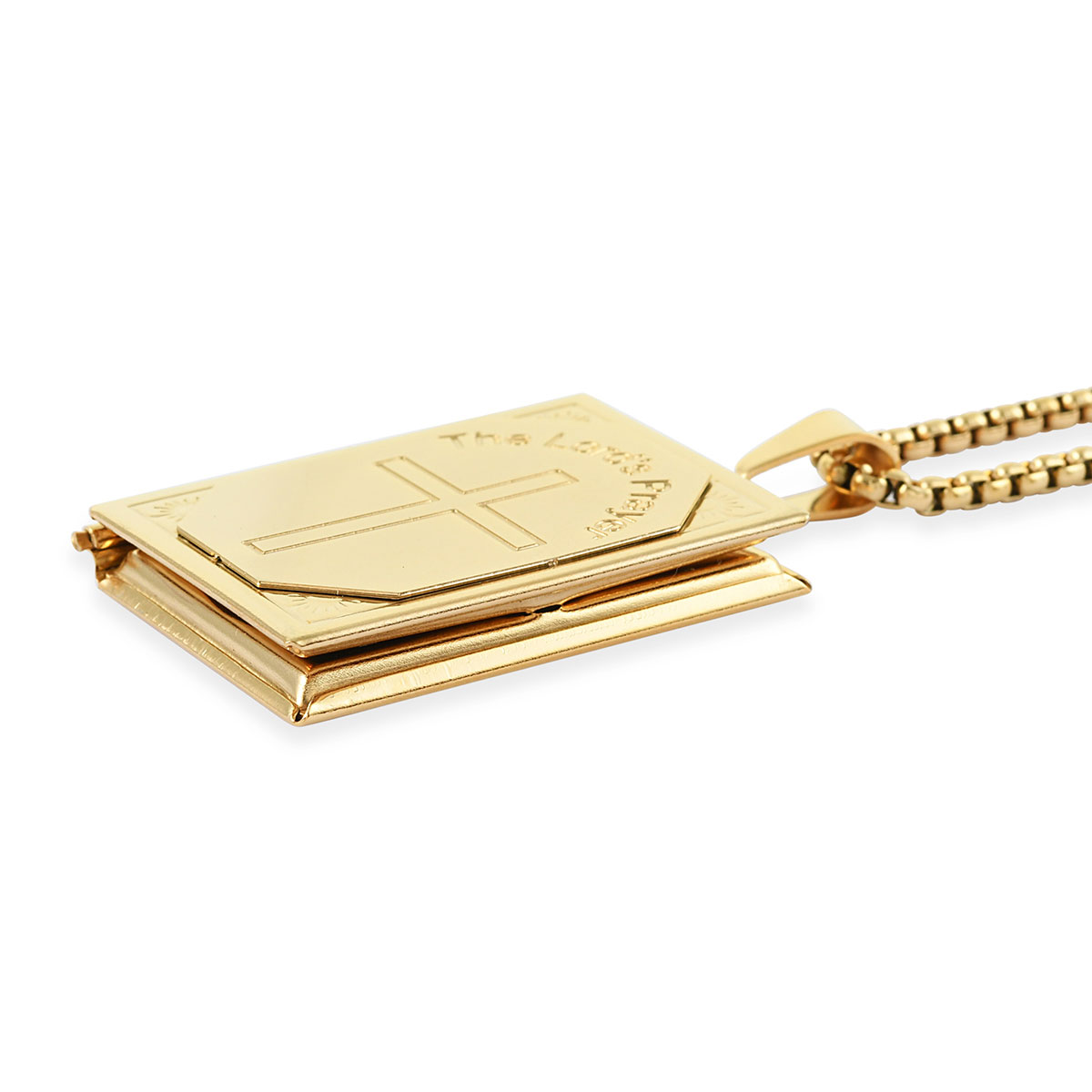 Shop LC Delivering Joy Set of 2 Stainless Steel Yellow Gold ION Plated Ring Pendant Necklace for Dad Fashion Jewelry for Mens Size 12 /& 24