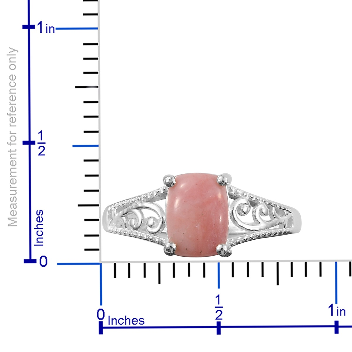 Oregon Pink Opal Ring in Sterling Silver (Size 5.0) 0.95 ctw