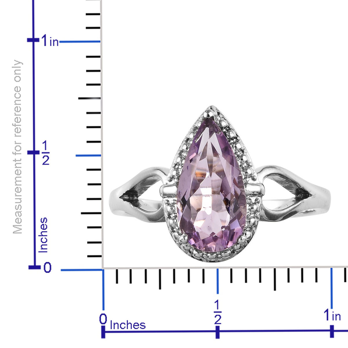 Rose De France Amethyst Ring in Stainless Steel (Size 11.0) 2.50 ctw