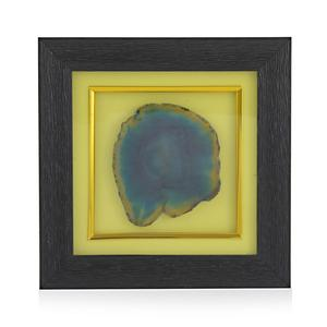 Handcrafted Green Agate Wooden Frame Wall Decor 7 5x7 5 In