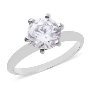 White CZ Sterling Silver Ring (Size 7.0) 3.44 ctw