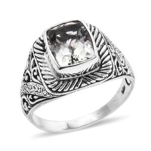 BALI LEGACY Green Amethyst Ring in Sterling Silver (Size 5.0) 2.84 ctw