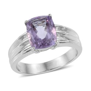 Rose De France Amethyst Ring in Stainless Steel (Size 8.0) 4.00 ctw