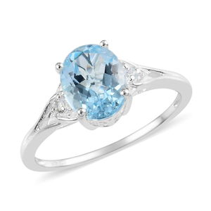 Sky Blue Topaz Ring in Sterling Silver (Size 10.0) 2.85 ctw
