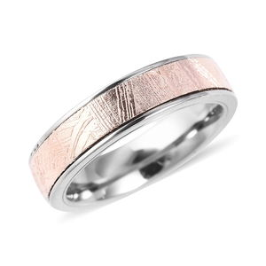 Marvelous Meteorite Band Ring in ION Plated RG Titanium (Size 6.0)