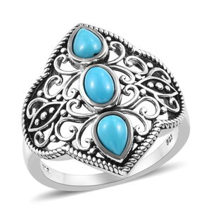 Arizona Sleeping Beauty Turquoise Ring in Sterling Silver (Size 9.0) 1.25 ctw