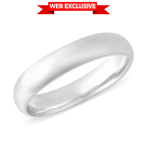 RHAPSODY Band Ring in 950 Platinum (Size 9.0)