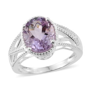 Rose De France Amethyst Ring in Sterling Silver (Size 11.0) 2.25 ctw