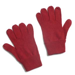 Red 80% Lamb Wool and 20% Polyester Basic Knitted Gloves