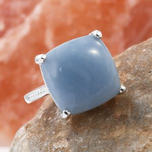 Mexican Angelite Ring in Sterling Silver (Size 8.0) 7.85 ctw