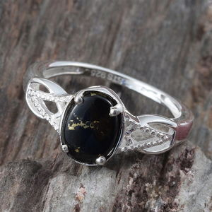 Goldenite Ring in Sterling Silver (Size 7.0) 1.00 ctw