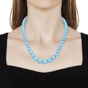RHAPSODY Arizona Sleeping Beauty Turquoise Beads Necklace (18 in) in 950 Platinum 246.50 ctw