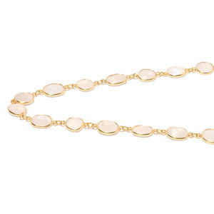 Rainbow Moonstone Necklace (36 in) in Vermeil YG Over Sterling Silver 13.50 ctw
