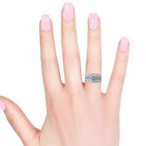 LUSTRO STELLA CZ Ring in Sterling Silver (Size 6.0) (Avg. 7.19 g) 4.05 ctw