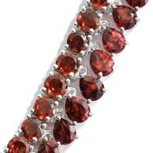Mozambique Garnet Platinum Over Sterling Silver Necklace (18 in) TGW 23.22 cts.