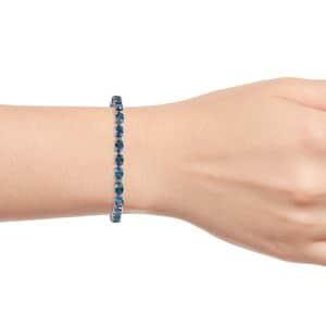 London Blue Topaz Bracelet in Platinum Over Sterling Silver (7.25 In) 21.10 ctw