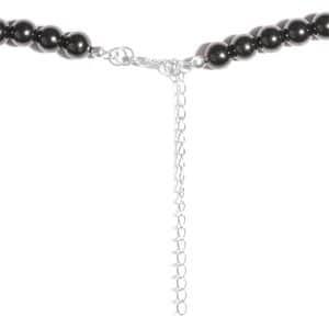 Shungite Beaded Necklace (18-21 in) in Silvertone 176.90 ctw