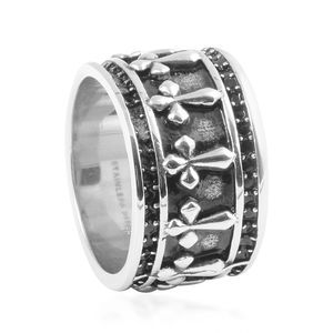 ION Plated Black and Stainless Steel Men's Ring (Size 11.0)