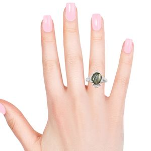 Malagasy Labradorite Ring in Sterling Silver (Size 9.0) 3.50 ctw