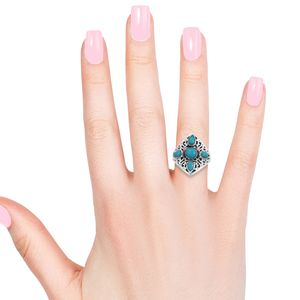 Artisan Crafted Arizona Sleeping Beauty Turquoise Ring in Sterling Silver (Size 10.0) 1.38 ctw