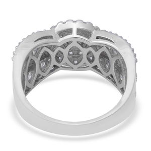 LUSTRO STELLA CZ Ring in Sterling Silver (Size 9.0) 2.94 ctw