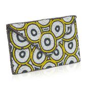 White, Yellow and Gray Seed Bead Envelope Clutch (10x6 in)