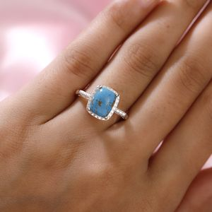 Mojave Blue Turquoise Ring in Sterling Silver (Size 9.0) 3.15 ctw