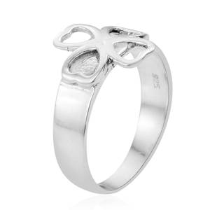 Artisan Crafted Four Heart Ring in Sterling Silver (Size 7.0)
