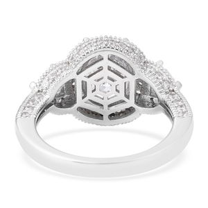 LUSTRO STELLA CZ Ring in Sterling Silver (Size 5.0) 4.72 ctw